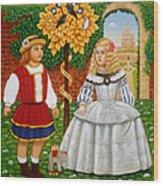 I Had A Little Nut Tree, 1995 Oils And Tempera On Panel Wood Print