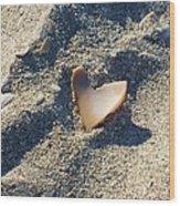 I Heart The Beach Wood Print by Anna Villarreal Garbis