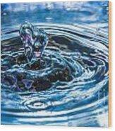 I Heart Water Wood Print