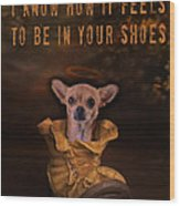 I Know How It Feels To Be In Your Shoes Wood Print