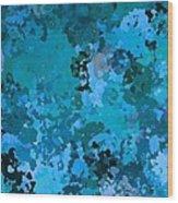 I Love Blue Wood Print
