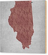 I Love Chicago Illinois - Red Wood Print