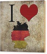 I Love Germany Wood Print
