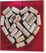 I Love Red Wine Wood Print