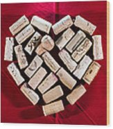 I Love Red Wine - Square Wood Print