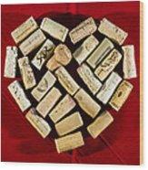 I Love Red Wine - Vertical Wood Print