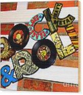 I Love Rock N Roll   Wood Print