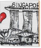 I Love Singapore Wood Print