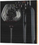 I Love Wine ! V Wood Print