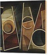 I Love You - Abstract  Wood Print