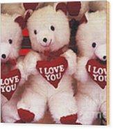 I Love You Bears Wood Print
