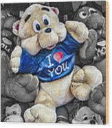 I Love You Wood Print by Jeff Swanson