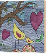 I Love You Wood Print by Julie Bull