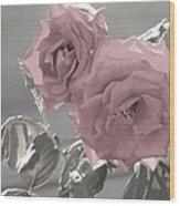 I Love You Rose Wood Print