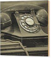 I Still Dial Wood Print