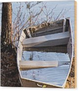 I Think The Water Goes Outside The Boat Wood Print