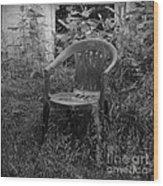 I Used To Sit Here Wood Print by Luke Moore