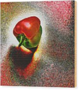 I Vote For A Really Hot Sweet Pepper Wood Print