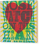I Walk The Line - Johnny Cash Lyric Poster Wood Print