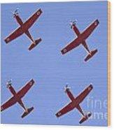 Iaf Flight Academy Aerobatics Team 4 Wood Print