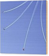 Iaf Flight Academy Aerobatics Team 5 Wood Print