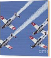 Iaf Flight Academy Aerobatics Team 6 Wood Print