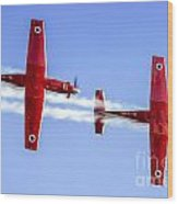 Iaf Flight Academy Aerobatics Team-a Wood Print