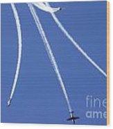 Iaf Flight Academy Aerobatics Team Wood Print