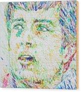 Ian Curtis Portrait Wood Print