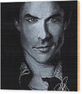 Ian Somerhalder Wood Print