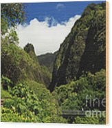 Iao Needle - Iao Valley Wood Print