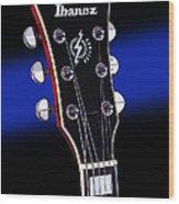 Ibanez Af75 Electric Hollowbody Guitar Headstock Wood Print
