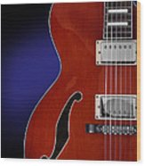 Ibanez Af75 Hollowbody Electric Guitar Front View Wood Print