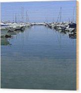 Ibiza Harbour Wood Print