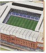 Ibrox Stadium Wood Print