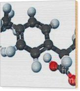 Ibuprofen, Molecular Model Wood Print