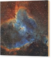 Ic 1805, The Heart Nebula In Cassiopeia Wood Print
