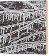 Ice Abstract 2 Wood Print