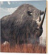 Ice Age Rhino Wood Print