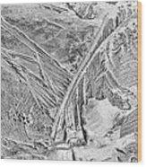 Ice Along Merced 1 Wood Print