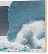 Ice And Surf II Wood Print