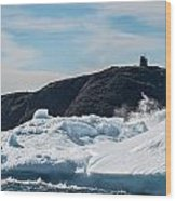 Ice And Surf Iv Wood Print by David Pinsent