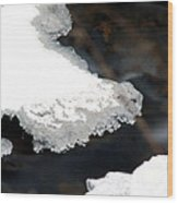 Ice And Water Wood Print