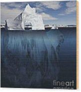 Ice Arch Iceberg Wood Print