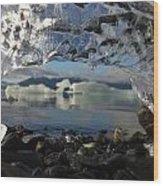 Ice Arch Wood Print