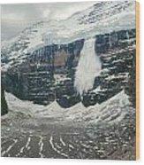 1m3545-01-ice Avalanche On Mt. Victoria Wood Print