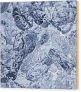 Ice Background Wood Print