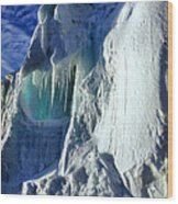 Ice Berg Up Close And Personal Wood Print