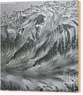 Ice Breaker Waves Wood Print