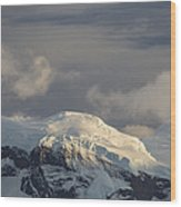 Ice-capped Mountains Anvers Island Wood Print